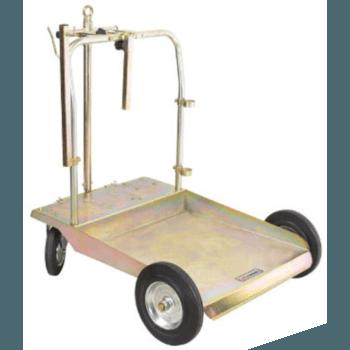 Тележка усиленная для бочек 200 литров с местом под катушку Lubeworks 1708003