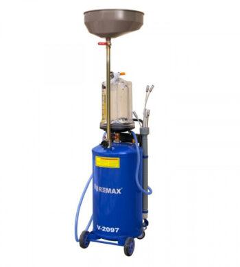 Установка маслосборная пневматическая REMAX V-2097 с предкамерой, бак 65л, воронка, щупы
